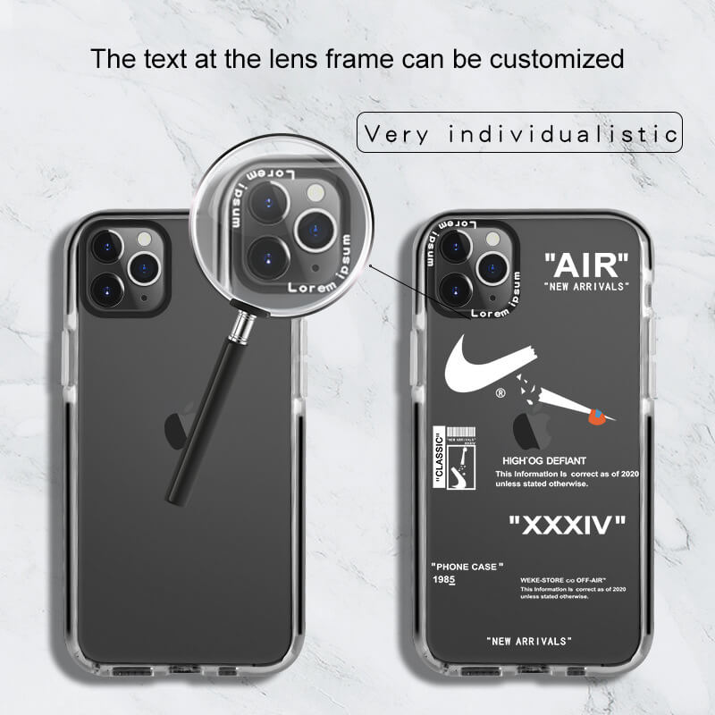 Dual Color Transparent Clear iPhone Cases/iPhone Covers for 6/6S/6 Plus/6S Plus/7/8/7 Plus/8 Plus/X/XS/XR/XS Max/11/11 Pro/11 Pro Max