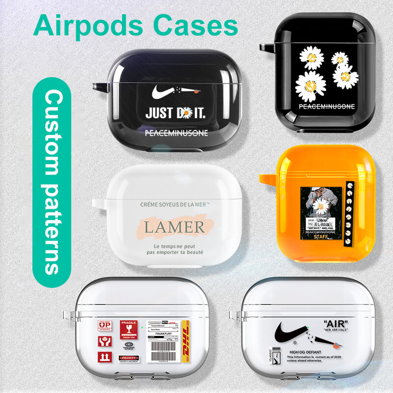 TPU Material Black/White/Transparent/Fluorescent/Gradient Colored Glossy Finished Airpods/Airpods Pro Protection Cases Covers