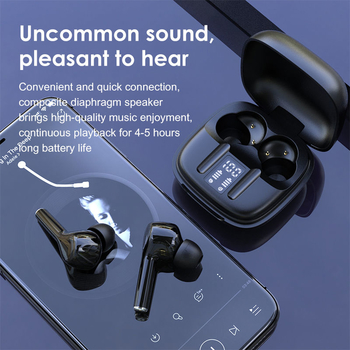 P69 TWS Mini Headset Bluetooth 5.0 Wireless Earphones Touch Control Stereo Bass Earbuds with LED Display