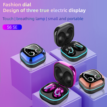 S6 SE True Wireless Stereo Earbuds TWS Bluetooth Earphone Headset Touch Control Car Dashboard Design LED Battery Display Flashing Indicators