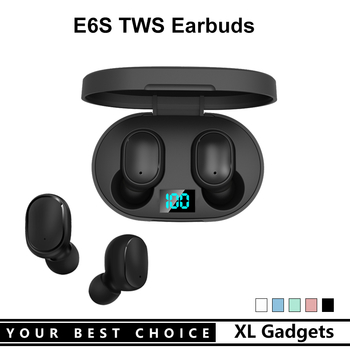 E6S Mini True Wireless Stereo Earbuds Bluetooth TWS Earphone Headset With LED Battery Display