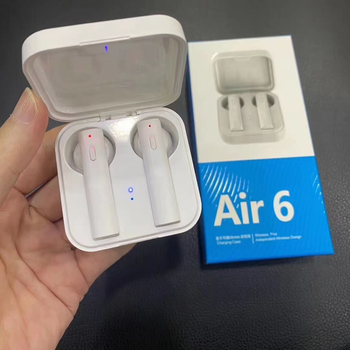 Air6 BT5.0 Wireless Bluetooth Earphone Headset White TWS Earbuds with Optional LED Battery Display