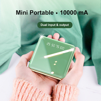 10000 mAh Double Input and Output  Mobile Charger 2A Mini Portable Fast Charging Power Banks