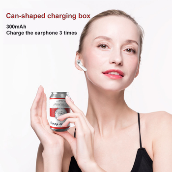 Budweiser/Coca-Cola/Heineken beer/Pepsi-Cola/Mirinda/Blue and White Porcelain/Christmas Can-shape BT 5.1 TWS Bluetooth Earphone with Charging Case