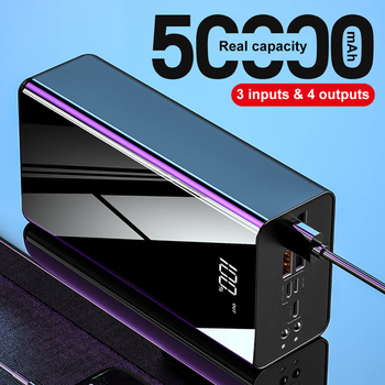 50000mAh High Capacity Power Banks With Four USB Outputs and Three Input Interfaces