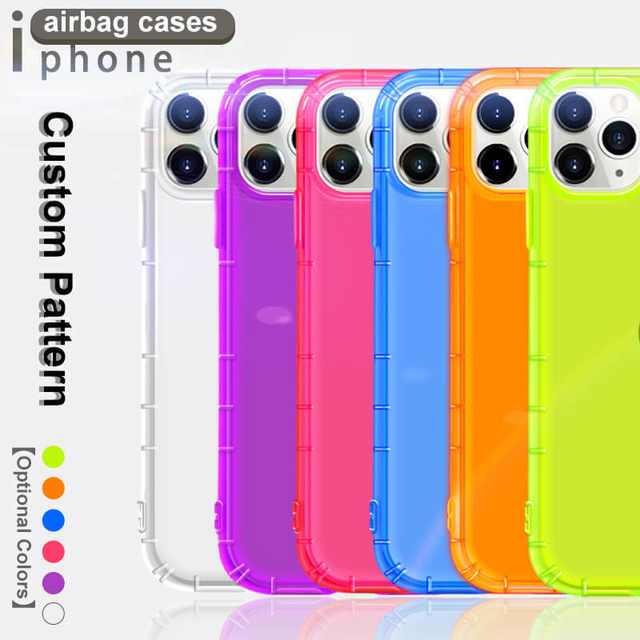 Colorful Clear Airbag iPhone Cover Transparent iPhone Cases