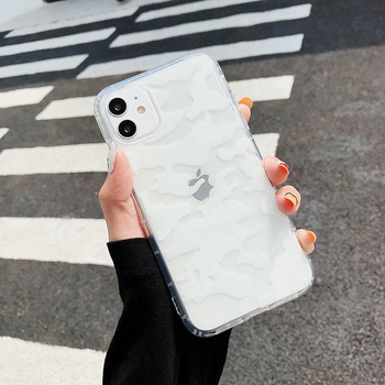 TPU Soft Material Creative White Camouflage iPhone Protection Cases Covers for iPhone X/XS/XS Max/11/11 Pro/11 Pro Max