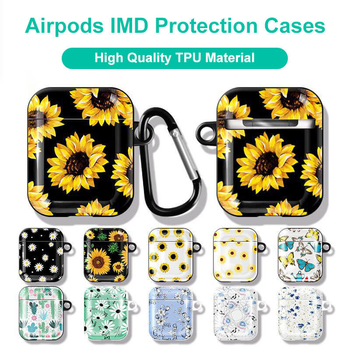 TPU Material Glossy Finish Sunflowers/Dandelion/Cactus Airpods Protection Cases/Covers