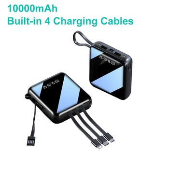 2020 New Arrivals Portable Charger With 4 Built-in Cables 10000mAh Mobile Power Banks