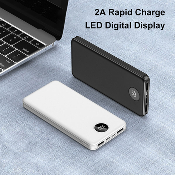 Custom Pattern 2A Fast Charge 10000mAh Super Thin Portable Power Bank Chargers With LED Digital Display
